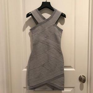 Stretta Women's Short Bandage Dress Grey Sz SM